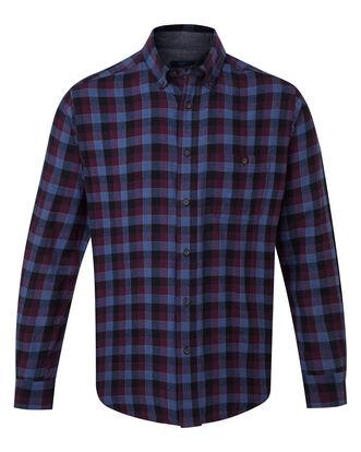 Purple Flannel Check Shirt