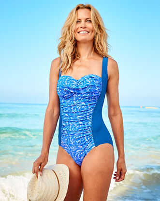 Ruched Front Tummy Control Swimsuit