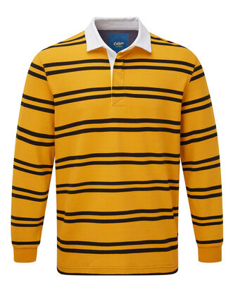 Rich Gold Long Sleeve Stripe Rugby Shirt