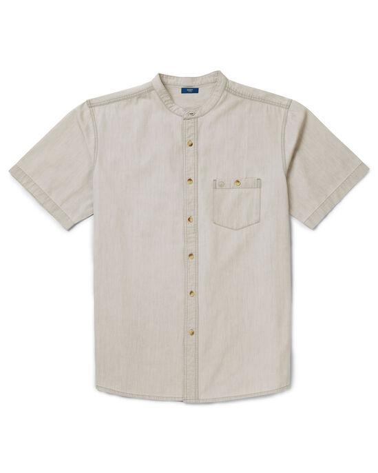 Short Sleeve Denim Grandad Shirt