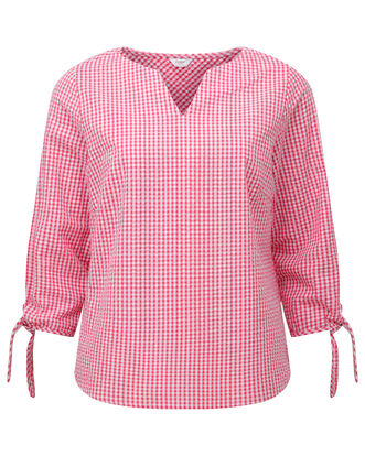 Gingham Seersucker Top