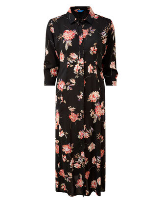 Floral Frockstar Button-through Long Dress