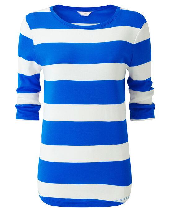 Wrinkle Free Wide Stripe Top
