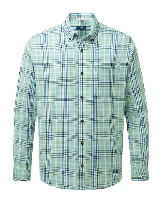 Long Sleeve Twill Check Shirt