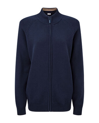 Cotton Zip-through Cardigan