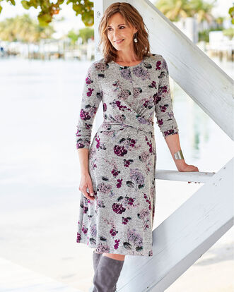 Floral Soft Touch Midi Dress