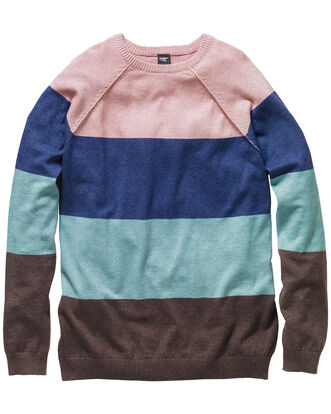 Block Stripe Fine Gauge Jumper