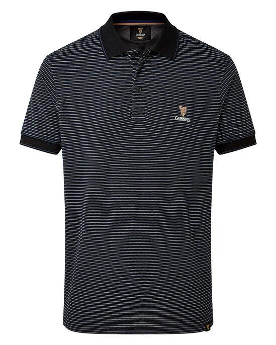 Guinness Short Sleeve Stripe Polo Shirt