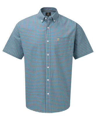 Guinness Short Sleeve Oxford Gingham Check Shirt