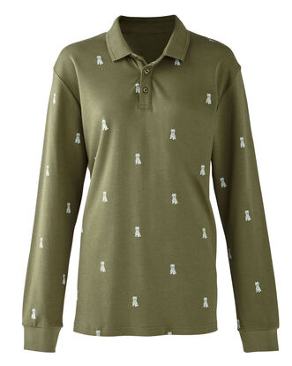 Leaf Long Sleeve Jersey Westie Polo Shirt
