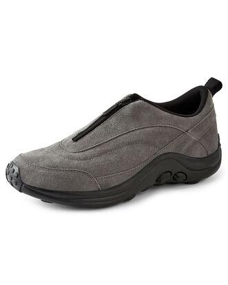 Zip Front Suede Shoes