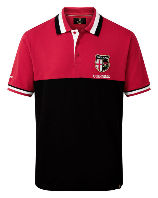 Guinness® Short Sleeve England Polo Shirt