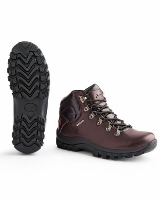 Leather Waterproof Walking Boots