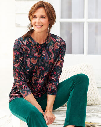 Paisley Velour Sweatshirt