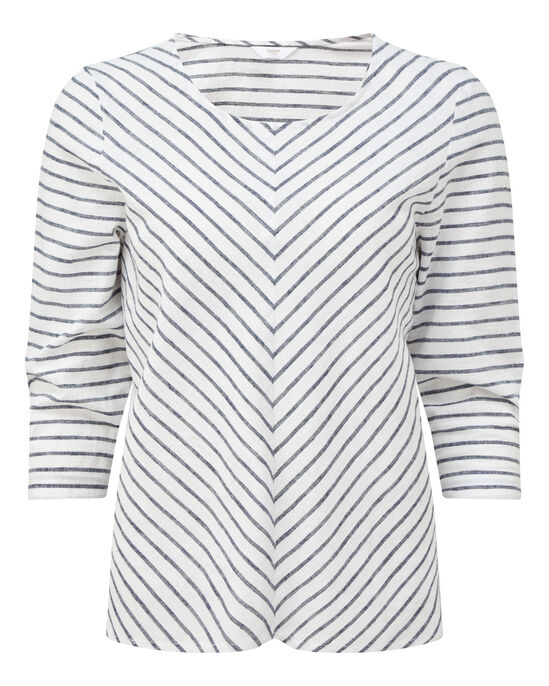 Linen-blend Top
