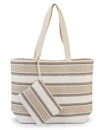 Stripe Bag and Purse Set
