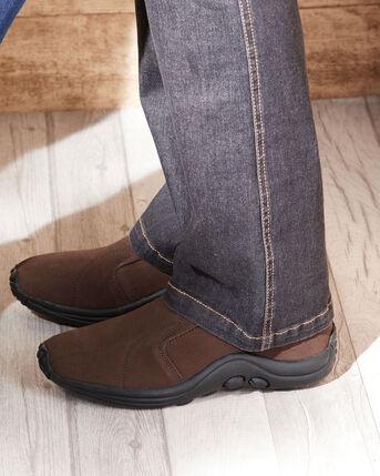 Men's Wide Fit Suede Slip-ons
