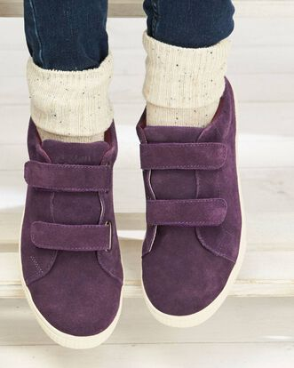 Suede Adjustable Strap Shoes
