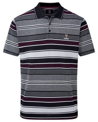 Guinness® Short Sleeve Birdseye Stripe Polo Shirt