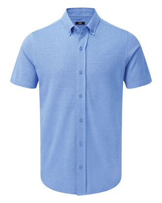 Short Sleeve Knitted Oxford Shirt