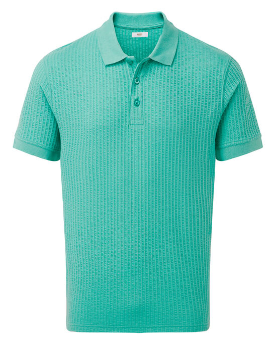 Short Sleeve Seersucker Polo Shirt