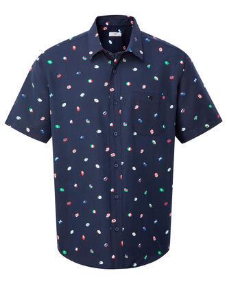 Short Sleeve Soft Touch Flag Print Shirt