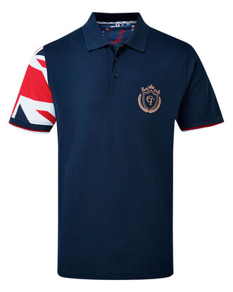Flag Short Sleeve Polo Shirt