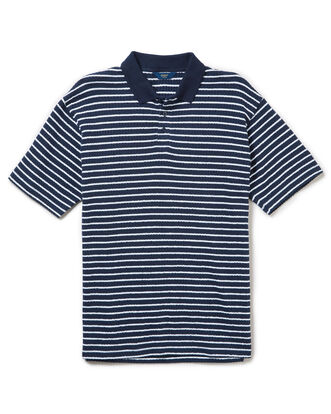 Seersucker Stripe Polo Shirt