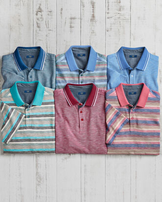 Stripe Luxury Polo Shirt