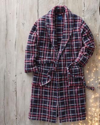 Check Fleece Dressing Gown