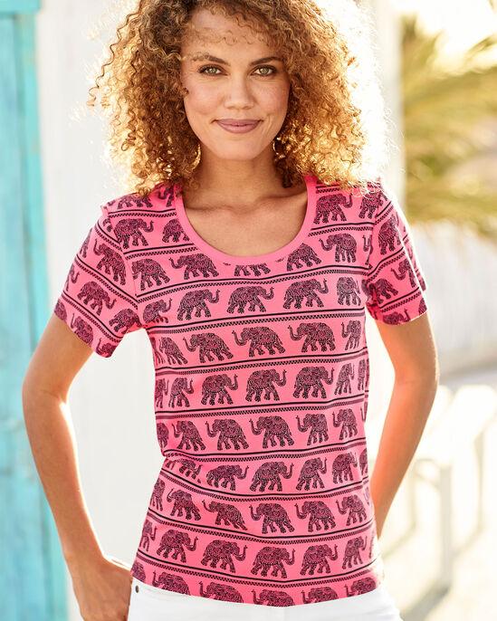 Wrinkle Free Elephant Print T-shirt