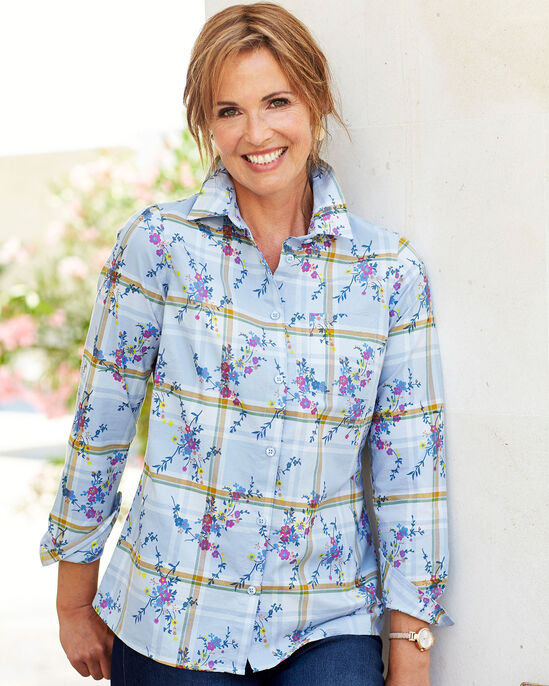 Oxford Floral Check Shirt