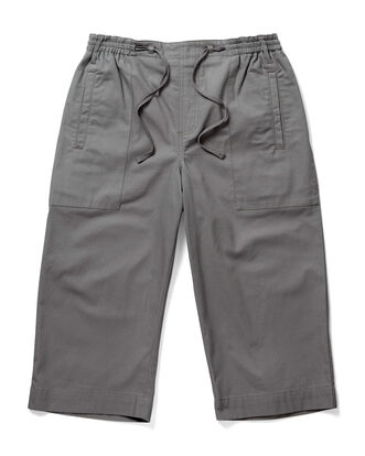 Cotton Pull-on Crop Trousers