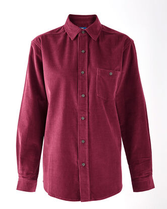 Red Wine Long Sleeve Cord Shirt