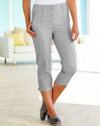 Elasticated Waist Crop Trousers