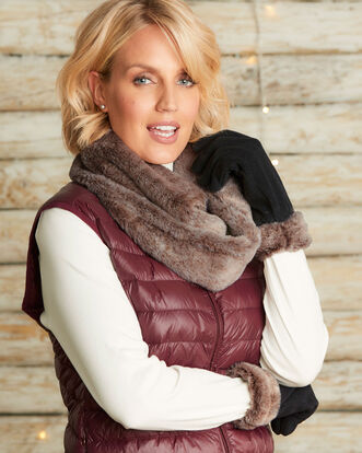 Faux Fur Snood and Glove Set