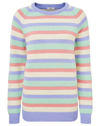 Women's Stripe Cotton Crew Neck Jumper