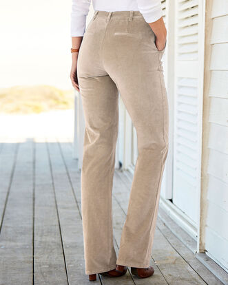 Adjustable Waist Cord Trousers