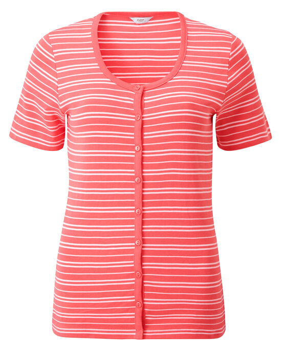 Wrinkle Free Stripe Cardigan