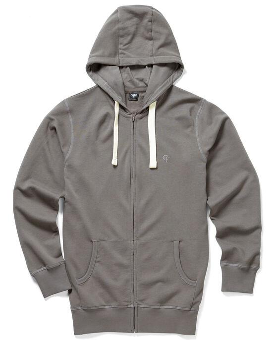 Loopback Zip-through Hooded Top