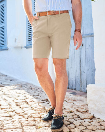 Flat Front 4-way Stretch Chino Shorts