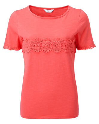 Crochet Detail T-Shirt