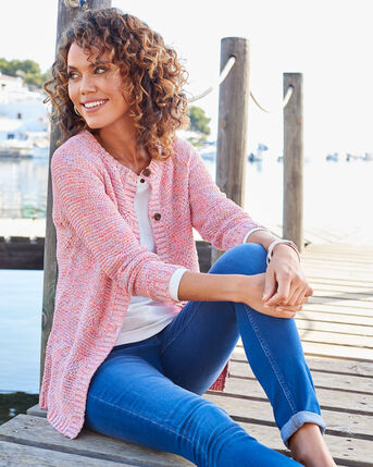 Textured Button Cardigan