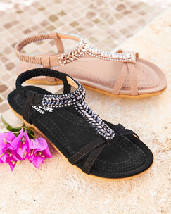 Cushioned Jewel Sandals