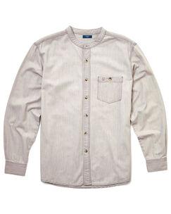 Long Sleeve Denim Grandad Shirt