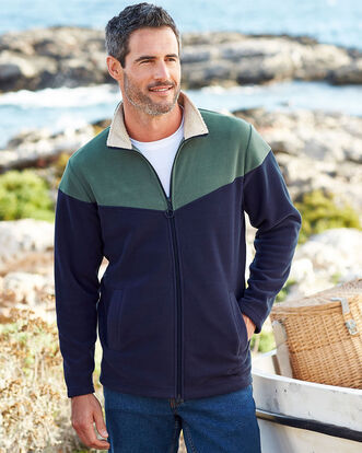 Luxury Fleece Zip Through Jacket