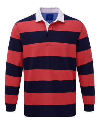Long Sleeve Stripe Rugby Shirt