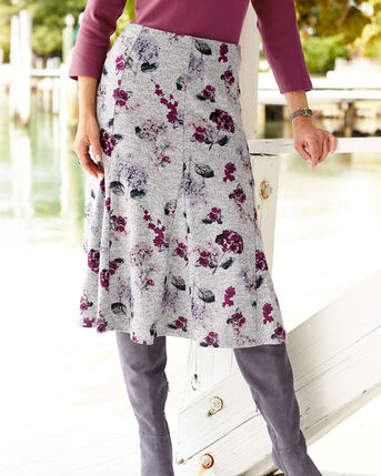 Floral Soft Touch Midi Skirt