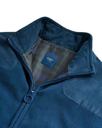 Check Lined Fleece Jacket