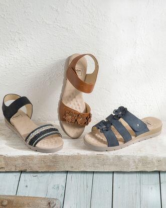Cushion Support Embellished Sandals